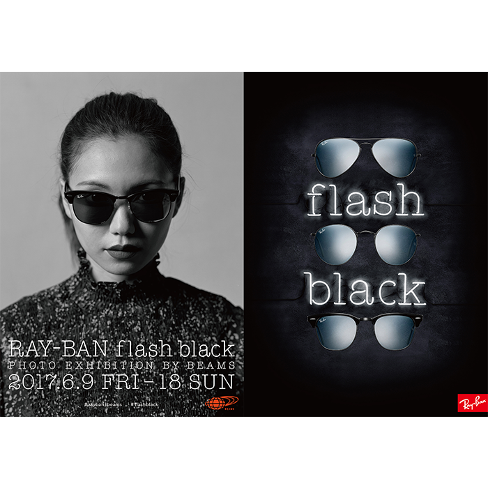RAY-BAN flash black PHOTO EXHIBITION by Beams1