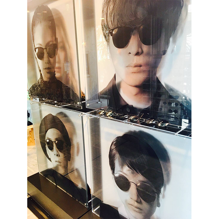 RAY-BAN flash black PHOTO EXHIBITION by Beams4